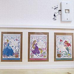 玄関/入り口/ディズニーランド/プリンセス/IKEA/ポストカードのインテリア実例 - 2014-09-14 14:08:37