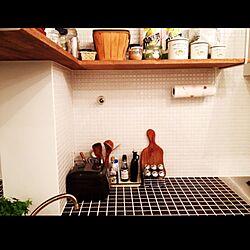 キッチン/タイル/吊り棚のインテリア実例 - 2012-09-19 20:51:15