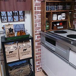キッチン/キッチン収納/クラフト袋収納/いいね!ありがとうございます♪/DIYスパイスラックのインテリア実例 - 2015-03-28 18:42:58