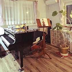 チェロ/グランドピアノ/ウンベラータ/バイオリン/ピアノ部屋のインテリア実例 - 2018-04-13 19:06:25