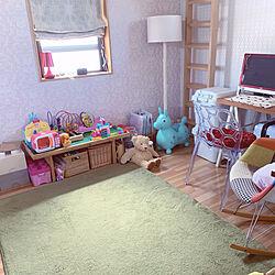 おもちゃ収納/子供部屋/北欧/ハンドメイド/DIY...などのインテリア実例 - 2020-08-06 07:49:32