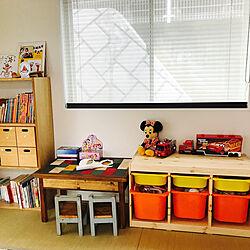棚/キッズスペース(和室)/子供部屋&キッズスペース/IKEA/無印良品のインテリア実例 - 2018-06-17 05:57:29