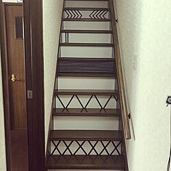 玄関/入り口/階段/モノトーン/サーファーズハウス/ペットと暮らす家...などのインテリア実例 - 2016-12-04 13:45:03