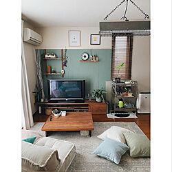 テレビボード/賃貸リビング/リビングインテリア/IKEA/DIY家具...などのインテリア実例 - 2021-06-06 19:23:55
