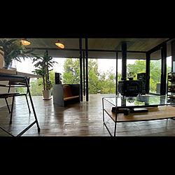 モノトーンインテリア/朝の風景/外と中の繋がり/カーテンの無い暮らし/ガラス張り...などのインテリア実例 - 2021-04-28 08:10:41