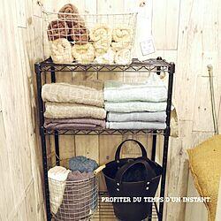 バス/トイレ/バスタオル/IKEA/salut!/ワイヤーバスケット...などのインテリア実例 - 2015-02-01 09:47:18