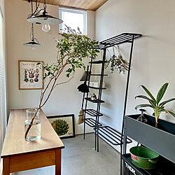 オープンラック/吹き抜けのある家/子供のいる暮らし/お気に入り/植物のある暮らし...などのインテリア実例 - 2021-04-25 19:28:36