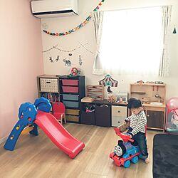 部屋全体/アクセントウォール/子供部屋/おもちゃ/ウォールステッカー...などのインテリア実例 - 2016-02-19 12:50:03
