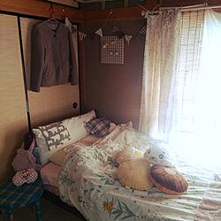 ベッド周り/古い家/和室/100均/障子にカーテン...などのインテリア実例 - 2020-04-19 10:34:49