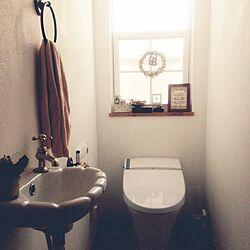 バス/トイレ/たくさんのいいね、コメントありがとう♡/カメラマーク消したくて…/朝からトイレですいません^^;/フェイク仲間☆...などのインテリア実例 - 2014-09-03 08:21:43