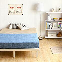 ベッド周り/インテリア/ベッド/寝室/ベッドルーム...などのインテリア実例 - 2017-03-09 18:49:18