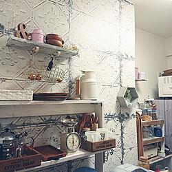 キッチン/DIY/掃除/壁紙屋本舗/salut!...などのインテリア実例 - 2020-06-11 20:24:33