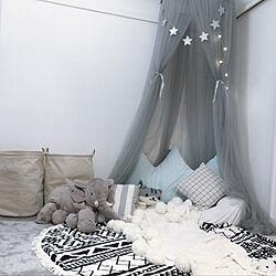 部屋全体/IKEA/おもちゃ部屋/おもちゃ収納/膝掛け...などのインテリア実例 - 2018-09-14 19:38:34