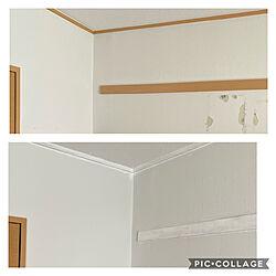長押塗装/コンクリートの壁/お部屋づくり/DIY/ホワイトペイント...などのインテリア実例 - 2020-08-21 15:19:02