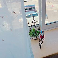 ベッド周り/ニトリのフェイクグリーン/サンタクロース/クリスマス/unico カーテン...などのインテリア実例 - 2018-11-02 11:32:07