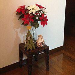 玄関/入り口/サンタクロース/小さなツリーのインテリア実例 - 2013-11-10 08:19:41