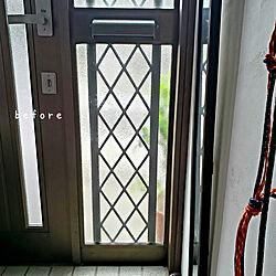 玄関/入り口/Before/ビフォー画像/玄関収納/ほうき収納...などのインテリア実例 - 2021-09-25 19:49:05