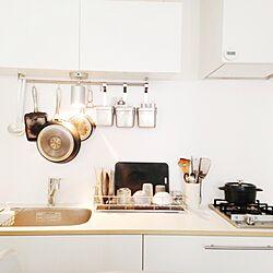 キッチン/まな板/水切りカゴ/水切り/なべ...などのインテリア実例 - 2013-08-04 11:00:14