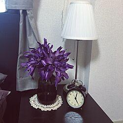 Lamp/vintage doily/clock/IKEA/my bedroom...などのインテリア実例 - 2016-02-07 17:04:23