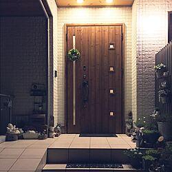 玄関/入り口/グリーン/夜の玄関/ポスト/エンジェル...などのインテリア実例 - 2016-07-12 22:14:53