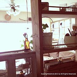 キッチン/キッチンカウンター/手作り棚/DIY/キッチンカウンターからのインテリア実例 - 2013-01-01 13:00:36