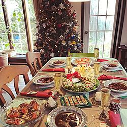 ウェッジウッドの食器/クリスマスランチ/クリスマス/リビング/クリスマスツリー210㎝のインテリア実例 - 2020-11-02 20:47:17
