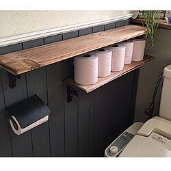 トイレ空間/トイレットペーパー収納/ペーパーホルダー/コレ、DIYしたよ!/バス/トイレのインテリア実例 - 2020-05-30 22:25:25