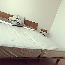 ベッド周り/ニトリのクッションカバー/無印のベッド/ASLEEPのインテリア実例 - 2017-04-30 16:52:40
