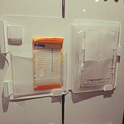キッチン/冷蔵庫/冷蔵庫ピタッとファイル/冷蔵庫収納/マグネットファイルのインテリア実例 - 2018-12-25 21:12:12