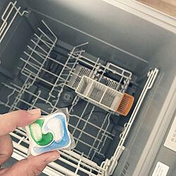 食洗機を清潔に/洗い直しゼロへ/ジョイ ジェルタブ/食洗機用洗剤/キッチン...などのインテリア実例 - 2020-07-01 06:57:03