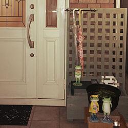 傘の置き場所/ねこ部/玄関まわり/木が好き/玄関/入り口のインテリア実例 - 2020-06-26 00:38:20