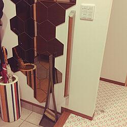 玄関/入り口/ほうきとちりとり/フロアシート/IKEAのインテリア実例 - 2017-09-23 23:45:39
