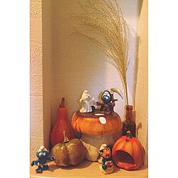 玄関/入り口/キノコ/ニッチ/ハロウィン/おもちゃ...などのインテリア実例 - 2017-10-02 08:18:21