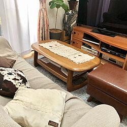 センターテーブルマット/メルカリで購入/ブラウンインテリア/ブラウンが好き/住友林業の家...などのインテリア実例 - 2021-03-13 11:01:06