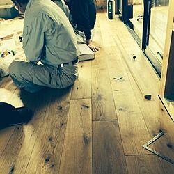 リビング/建築中/リノベーション/無垢床/オークのインテリア実例 - 2014-04-15 00:02:22