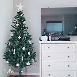 平屋/マイホーム/モノトーン/シンプル/クリスマスツリー出しました...などのインテリア実例 - 2020-11-17 20:10:37