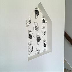 壁/天井/リモコンニッチ/ふくろう壁紙/ふくろう/フクロウ壁紙...などのインテリア実例 - 2018-08-07 12:41:07