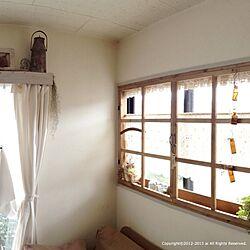 壁/天井/カーテンBOX/DIY/手作り窓枠/ナチュラル...などのインテリア実例 - 2013-08-22 11:38:01