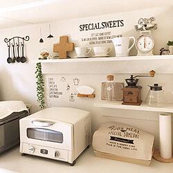 キッチン/トースター/リンナイ/無印良品 壁に付けられる家具/niko and… ...などのインテリア実例 - 2018-02-24 19:05:36