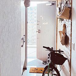 玄関/入り口/板壁/漆喰壁/マンション/暮らしのインテリア実例 - 2018-09-01 11:17:34