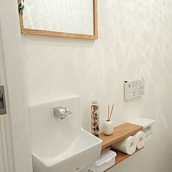 バス/トイレ/トイレ/TOTO/TOTOトイレ/トイレ棚DIY...などのインテリア実例 - 2019-09-13 19:21:30