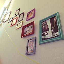 壁/天井/絵/IKEA/100均/セリア...などのインテリア実例 - 2015-02-23 16:01:39