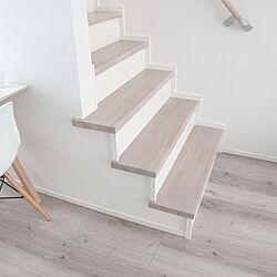 リビング/ひな壇階段/リビング階段/ホワイトオークの床/ホワイトオーク...などのインテリア実例 - 2020-05-17 22:00:17
