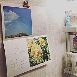バス/トイレ/ハワイ好き/ハワイのカレンダー/雑誌の付録/ハワイスタイル...などのインテリア実例 - 2019-01-12 22:02:08