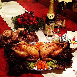キッチン/クリスマス/ねこのいる日常/植物のある暮らし/ねこのいる風景...などのインテリア実例 - 2016-12-24 20:57:40