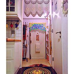 玄関/入り口/玄関マット/ビーズのれん/珠暖簾/お土産...などのインテリア実例 - 2016-09-29 20:41:11