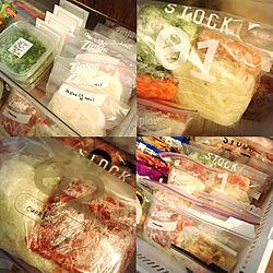 冷凍庫/キッチン/下処理/2週間分の晩ご飯/ついでに大掃除...などのインテリア実例 - 2020-04-02 17:32:04