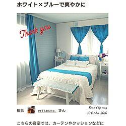 ベッド周り/Room Clip mag掲載♡♡/感謝です♡/今日も1日頑張りましょうq(^-^q)のインテリア実例 - 2016-10-11 07:26:33