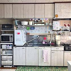 パステルカラー/瞬間湯沸かし器/食器洗浄機/新商品買ったよ!/社宅...などのインテリア実例 - 2019-03-10 10:02:08