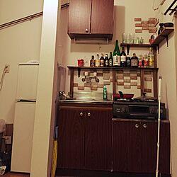キッチン/ワンルーム/一人暮らし/賃貸/ハンドメイドのインテリア実例 - 2015-02-16 19:53:20